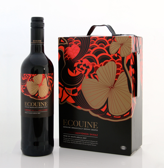 Ecouine Wine Packaging Designed by Thomas Perrson