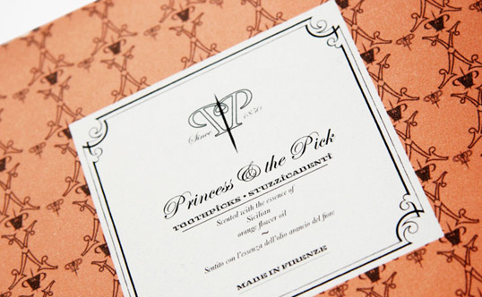 Princess & The Pick Toothpick packaging